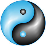 Ying and yang. This symbol for the balance Stock Photo