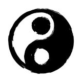 Ying Yang. Sign on White Royalty Free Stock Photography