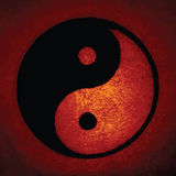 Ying Yang. Bright red Ying Yang symbol with outer glow Royalty Free Stock Image