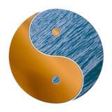 Ying Yang 2 elementi illustrazione vettoriale