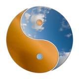 Ying Yang 2 elementos Ilustração do Vetor