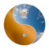 Ying Yang 2 elementos Imagens de Stock Royalty Free