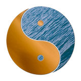 Ying Yang 2 Elements. In balance, earth and water Stock Photography