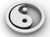 Ying and Yang. 3d. Icon Ying and Yang. 3d Very beautiful three-dimensional illustration, figure Royalty Free Stock Photo