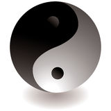 Ying yang black and white Royalty Free Stock Image