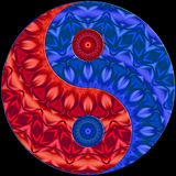 Ying Yang bleue rouge Photographie stock