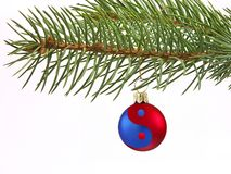 Ying-yang Christmas ball Royalty Free Stock Photography