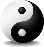 Ying yang con ombra Immagine Stock