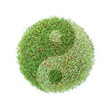 Ying-yang green globe Stock Photography