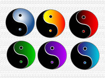 ying yang illustrations Stock Images