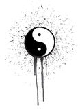 Ying yang ink illustration design Stock Photos