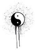 Ying yang ink illustration design Stock Photos