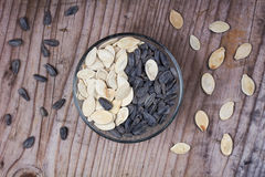 Ying yang  seeds Royalty Free Stock Photography