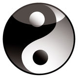 Ying yang shadow Stock Images
