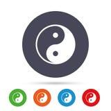 Ying yang sign icon. Harmony and balance symbol. Stock Photography