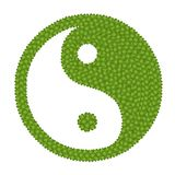 The Ying Yang Sign Made of Four Leaf Clove Stock Photography