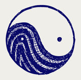 Ying yang sketch symbol Royalty Free Stock Photography