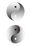 Ying Yang Sphere. Isolated on white Stock Photo
