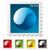 Ying yang stamp Stock Photo