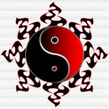 Ying Yang Sun Illustration royalty free stock image