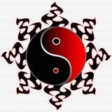 Ying Yang Sun Illustration Royalty Free Stock Image
