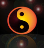 Ying and Yang symbol. A Ying and Yang symbol that represents opposites Royalty Free Stock Image