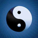 Ying Yang Symbol on blue background Stock Image