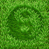 Ying-Yang symbol on green grass Royalty Free Stock Photo