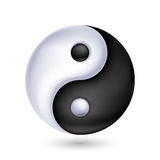 Ying-yang symbol of harmony and balance. Royalty Free Stock Photo