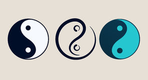 Ying yang symbol of harmony and balance Stock Image