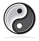 Ying yang symbol of harmony and balance Stock Photo