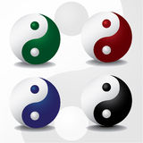 Ying yang symbols Royalty Free Stock Photography
