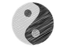 Ying Yang symbolu nakreślenie Obrazy Royalty Free