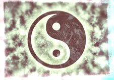 Ying yang vintage. Clouds in monochrome for print Stock Photography
