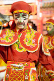 Yingge (Eng Kor) Dancing. Yingge (eng kor in Taochew) dancers were paint a face to a various form of art for the unrecognition performing to be a warrior and god royalty free stock photos
