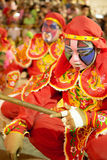 Yingge (Eng Kor) Dancing. Yingge (eng kor in Taochew) dancers were paint a face to a various form of art for the unrecognition performing to be a warrior and god royalty free stock images