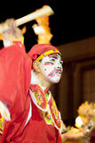 Yingge (Eng Kor) Dancing. Yingge (eng kor in Taochew) dancers were paint a face to a various form of art for the unrecognition performing to be a warrior and god stock photography