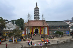 YingJiang Temple. Is an old traditional chinese temple located in Anqing City, Anhui Province. Inside there have the Zhenfeng pagoda which is originally built Royalty Free Stock Image