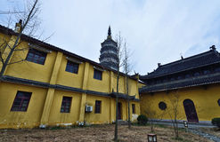 YingJiang Temple. Is an old traditional chinese temple located in Anqing City, Anhui Province. Inside there have the Zhenfeng pagoda which is originally built Stock Photography