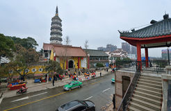 YingJiang Temple. Is an old traditional chinese temple located in Anqing City, Anhui Province. Inside there have the Zhenfeng pagoda which is originally built Royalty Free Stock Photography