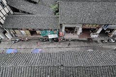 Yingjing China-Old streets. In a corner of Yingjing China,the old tile-roofed houses, old streets, relaxed and carefree people,some messy.Photo taken on August 8 Stock Photos