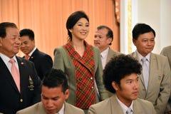 Yingluck Shinawatra Fotografering för Bildbyråer