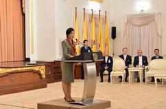 Yingluck Shinawatra Thailand premiärminister Royaltyfria Bilder