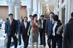 Yingluck Shinawatra Stock Photo