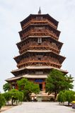 Yingxian Wonderful Pagoda. Royalty Free Stock Images