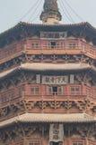 Yingxian Wooden Pagoda up close. Close up views of the Yingxian Wooden Pagoda, a UNESCO Heritage Site consideration Stock Photography