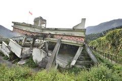 Yingxiu trzęsienia ziemi ruiny Xuankou szkoły średniej ruiny Zdjęcia Stock