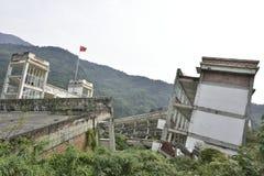 Yingxiu trzęsienia ziemi ruiny Xuankou szkoły średniej ruiny Fotografia Stock