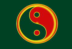 Yingyang. A portrait of ying yang in a green background Royalty Free Stock Image