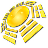 YinYan Eight Triagrams. Web button illustration Royalty Free Stock Photos